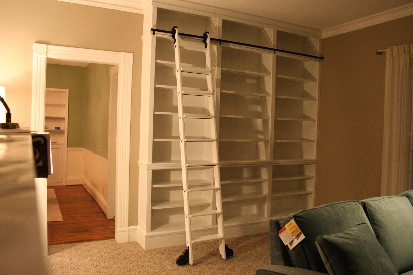 Sliding Library Ladder In Current Do It Yourself Library Ladder (View 11 of 15)