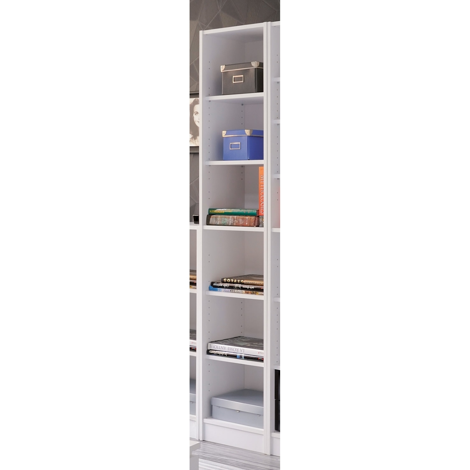 Slim Bookcases With Recent 29 Slim Bookcase White, Antique White Bookcases, Antique White (View 11 of 15)