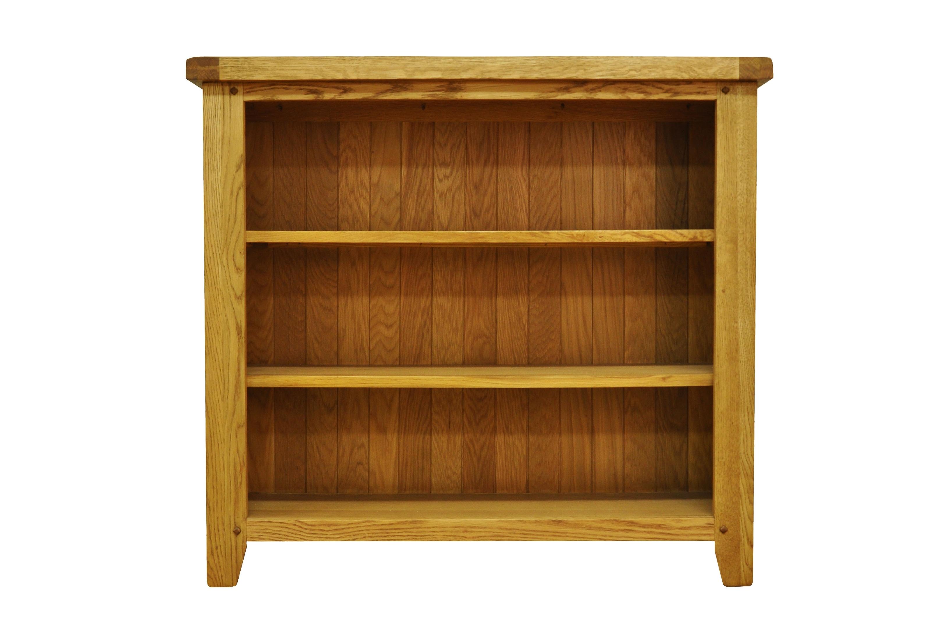 Small Bookcases For 2018 Bookcases : Stanton Small Wide Rustic Oak Bookcasestanton Small (View 7 of 15)