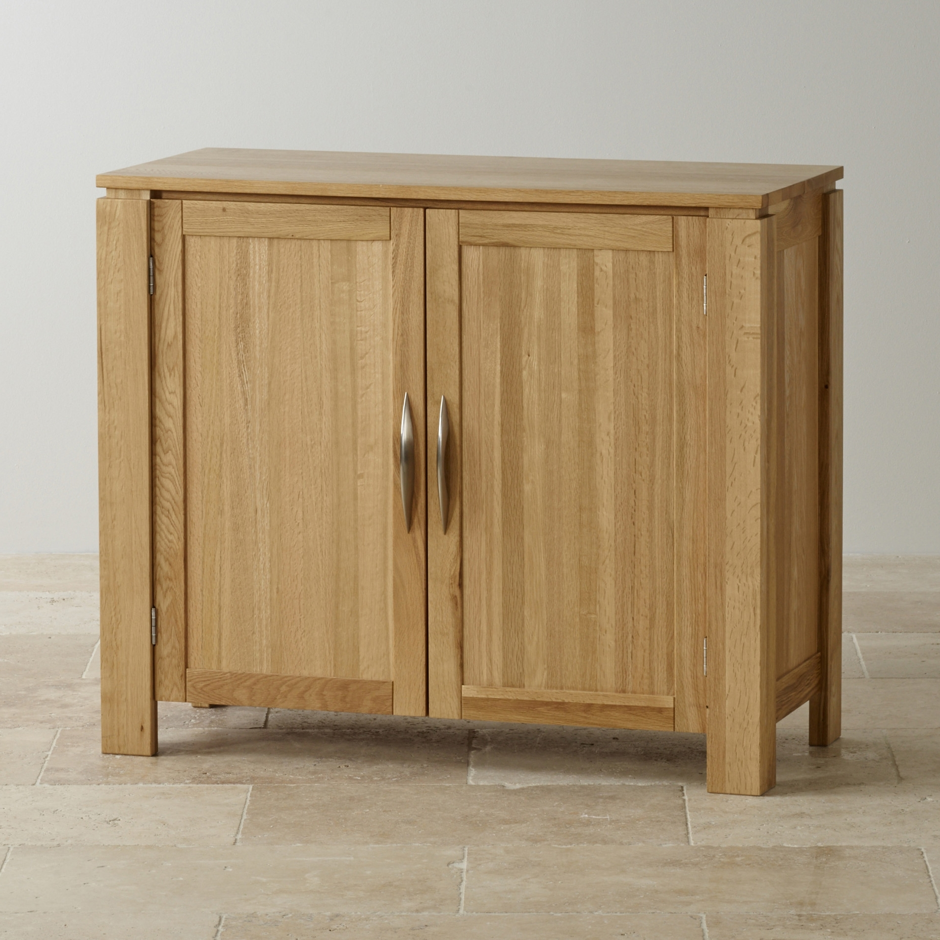 Small Oak Cupboard Pertaining To Widely Used Galway Small Sideboard In Natural Solid Oak (View 5 of 15)