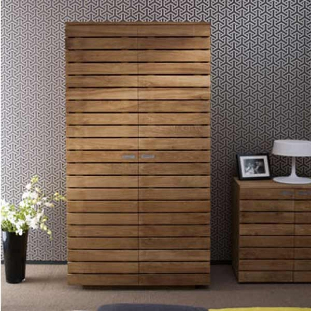 Solid Dark Wood Wardrobes Fitted Wardrobe Armoire Doors Sale You Within Most Current Solid Wood Built In Wardrobes (View 6 of 15)