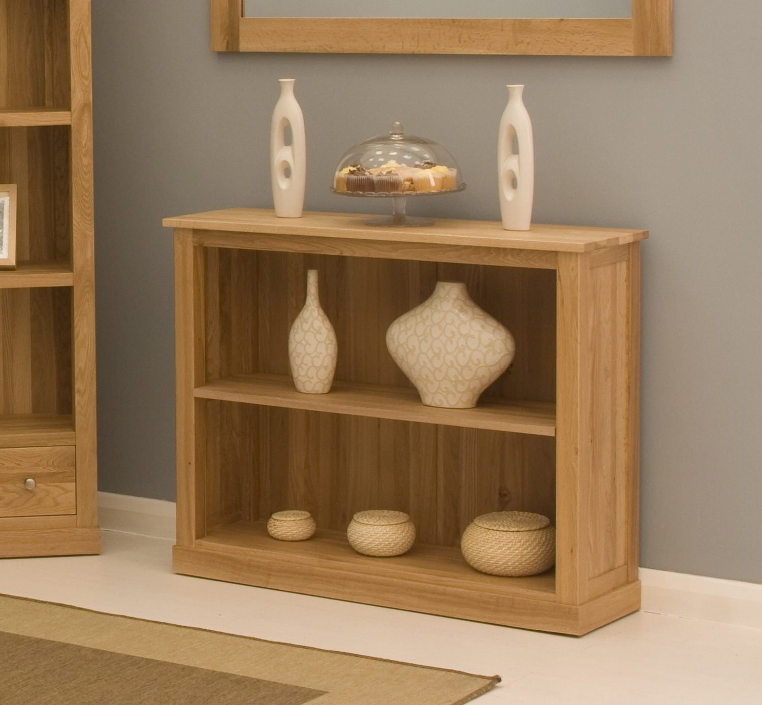 Solid Oak Bookcases Pertaining To Popular Conran Solid Oak Contemporary Furniture Low Office Living Room (View 12 of 15)
