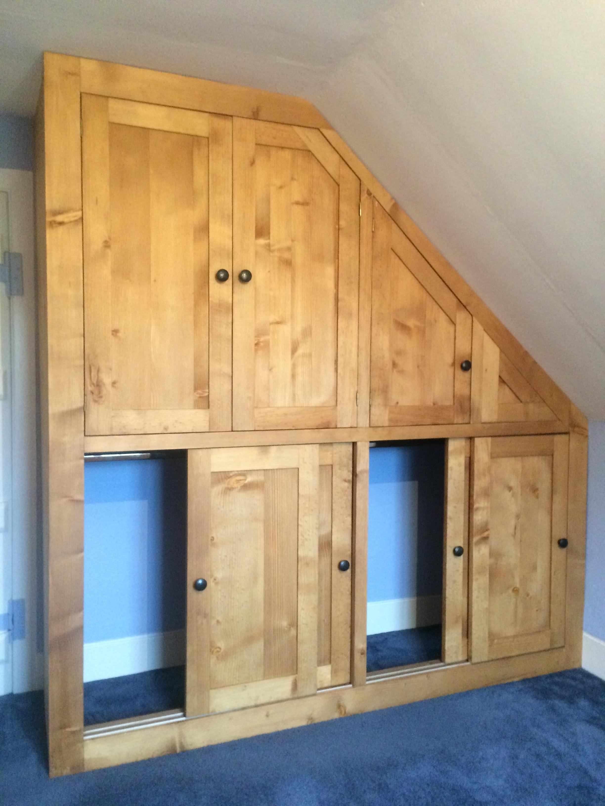 Solid Wood Built In Wardrobes Regarding Favorite Sliding Doors In This Bespoke Solid Wood Fitted Wardrobe Built (View 9 of 15)