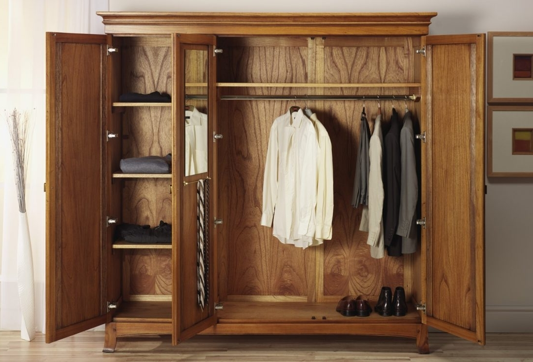 Solid Wood Wardrobes Closets Intended For Most Popular Solid Wood Wardrobe Closet Fitted Wardrobes Dark You Must See This (View 11 of 15)