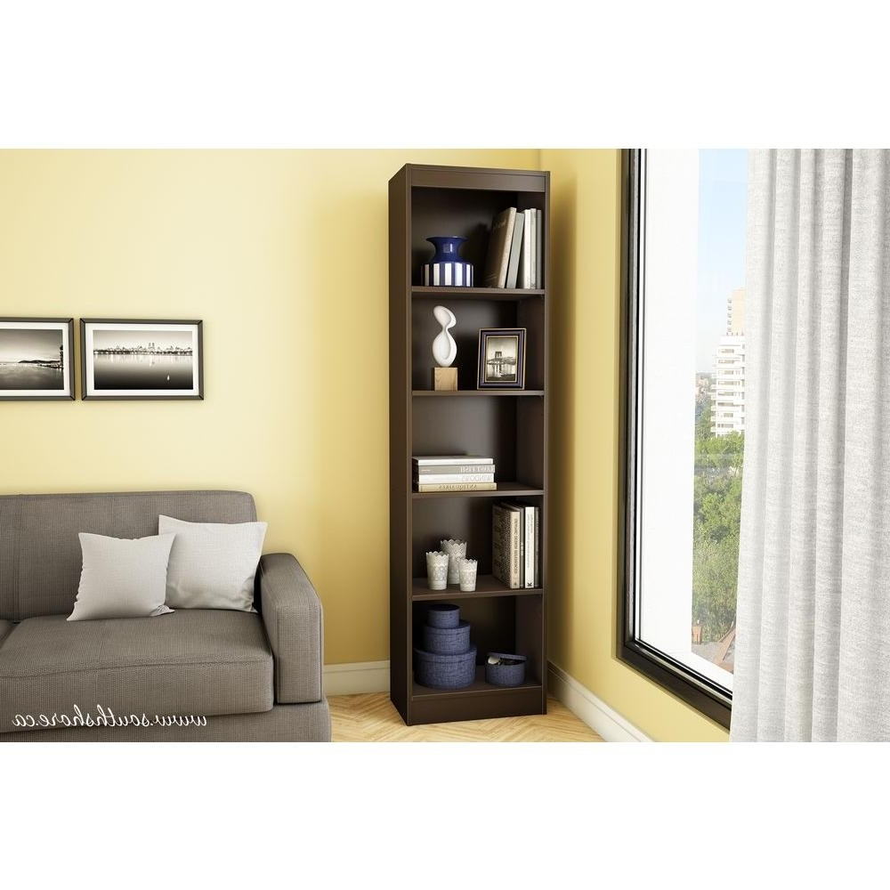 South Shore 5 Shelf Bookcases In Most Recently Released South Shore Axess 5 Shelf Bookcase In Chocolate 7259758 – The Home (View 8 of 15)