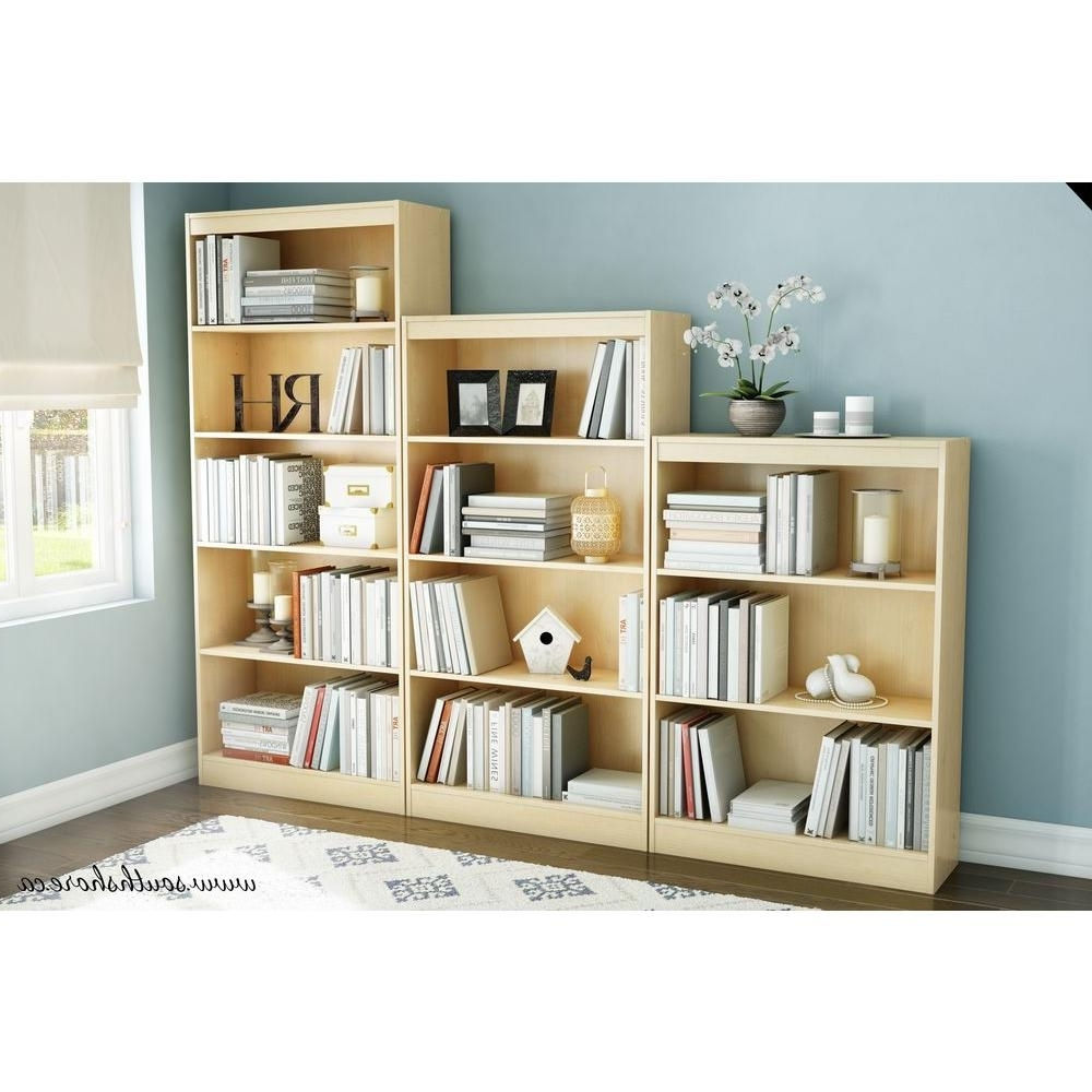South Shore 5 Shelf Bookcases Within Fashionable South Shore Axess Country Pine Open Bookcase 10131 – The Home Depot (View 11 of 15)