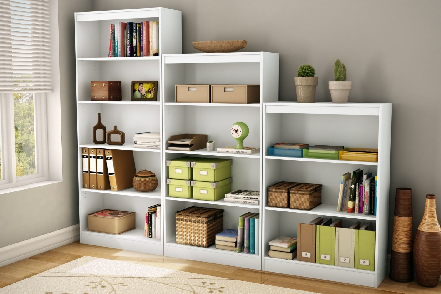 South Shore Bookcases In Well Liked South Shore Bookcase White 5 Shelf : Doherty House – South Shore (View 9 of 15)