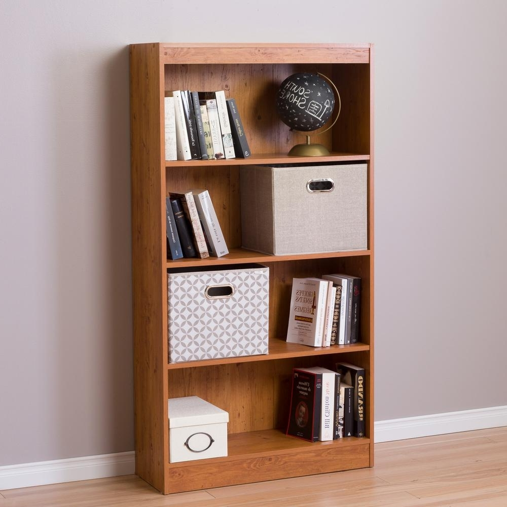 South Shore Bookcases Inside Fashionable South Shore Axess Country Pine Open Bookcase 10131 – The Home Depot (View 10 of 15)