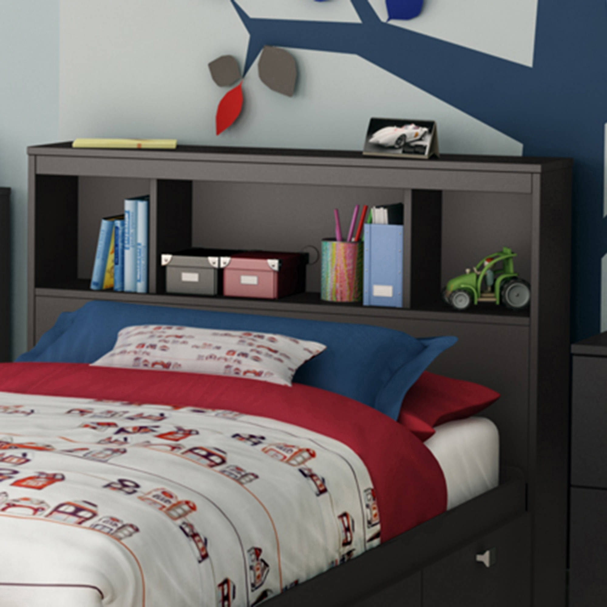 bookcases and headboard twin bed with solid south l little king bookcase drawers shore wood pedestal