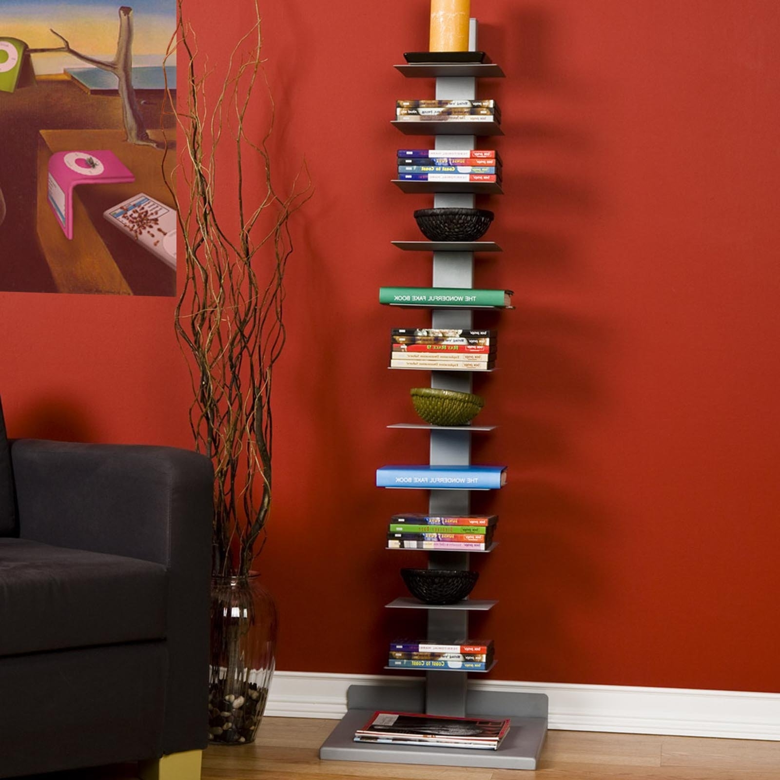Spine Bookcases With Latest Southern Enterprises Spine Tower Metal Bookcase (View 7 of 15)