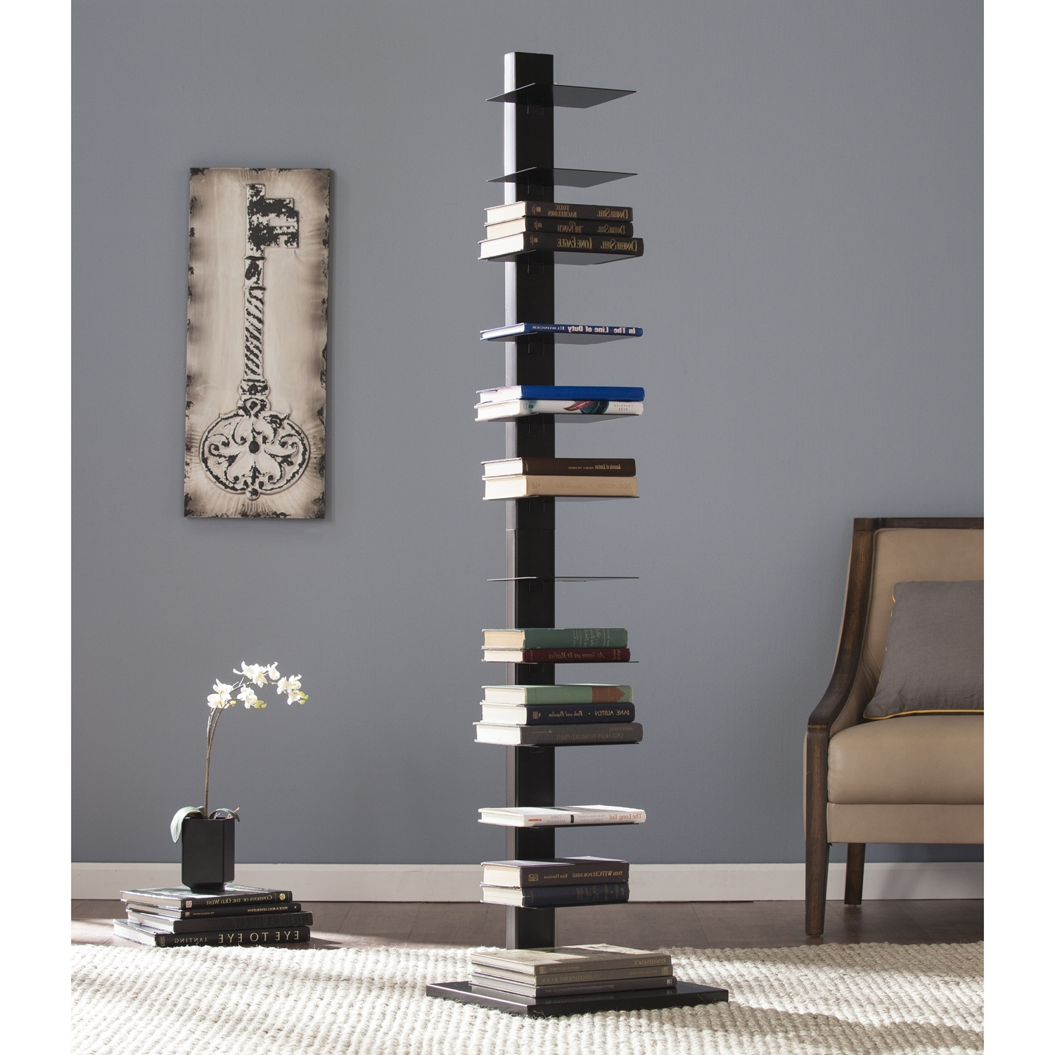 Spine Tower Shelf – Black – Bookcases – Organization – Living Room Within Most Recently Released Spine Bookcases (View 14 of 15)