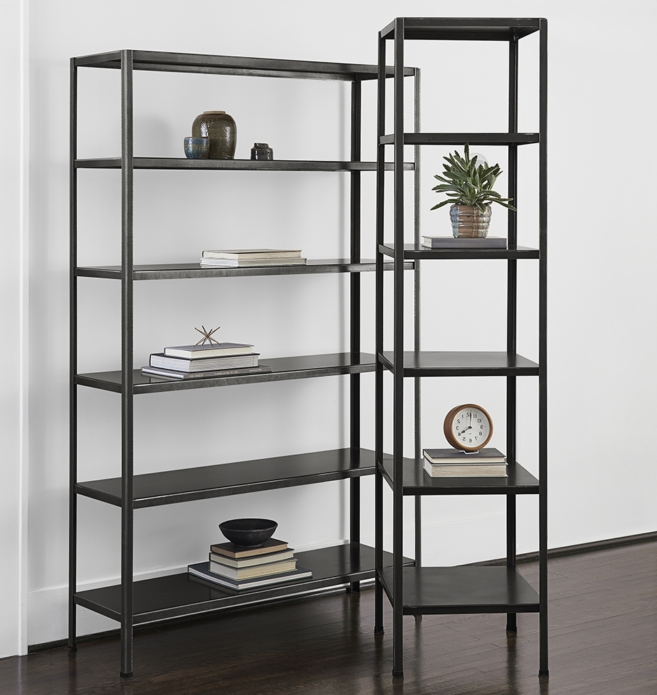 Steel Bookcases With Favorite Shocking Metal Bookcase Images Concept Shelves Bookcases With (View 13 of 15)