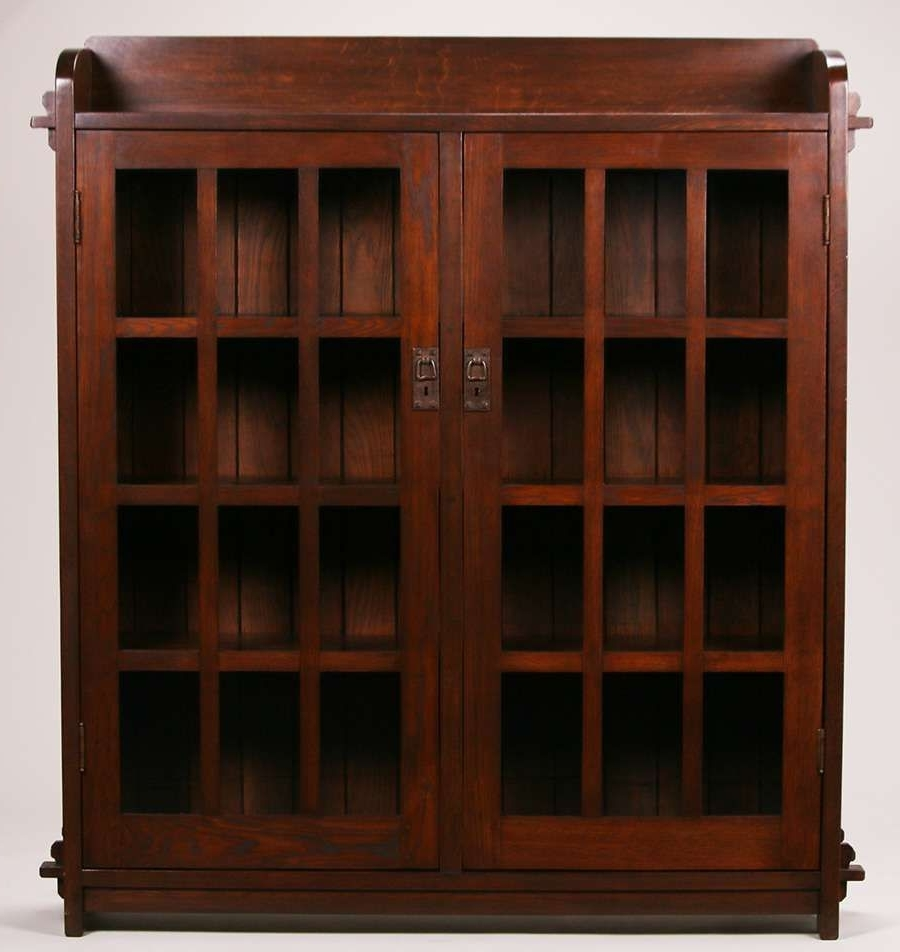 Stickley Bookcases Regarding Well Known Early L&jg Stickley Onondaga Period Two Door Bookcase With Tenon (View 12 of 15)