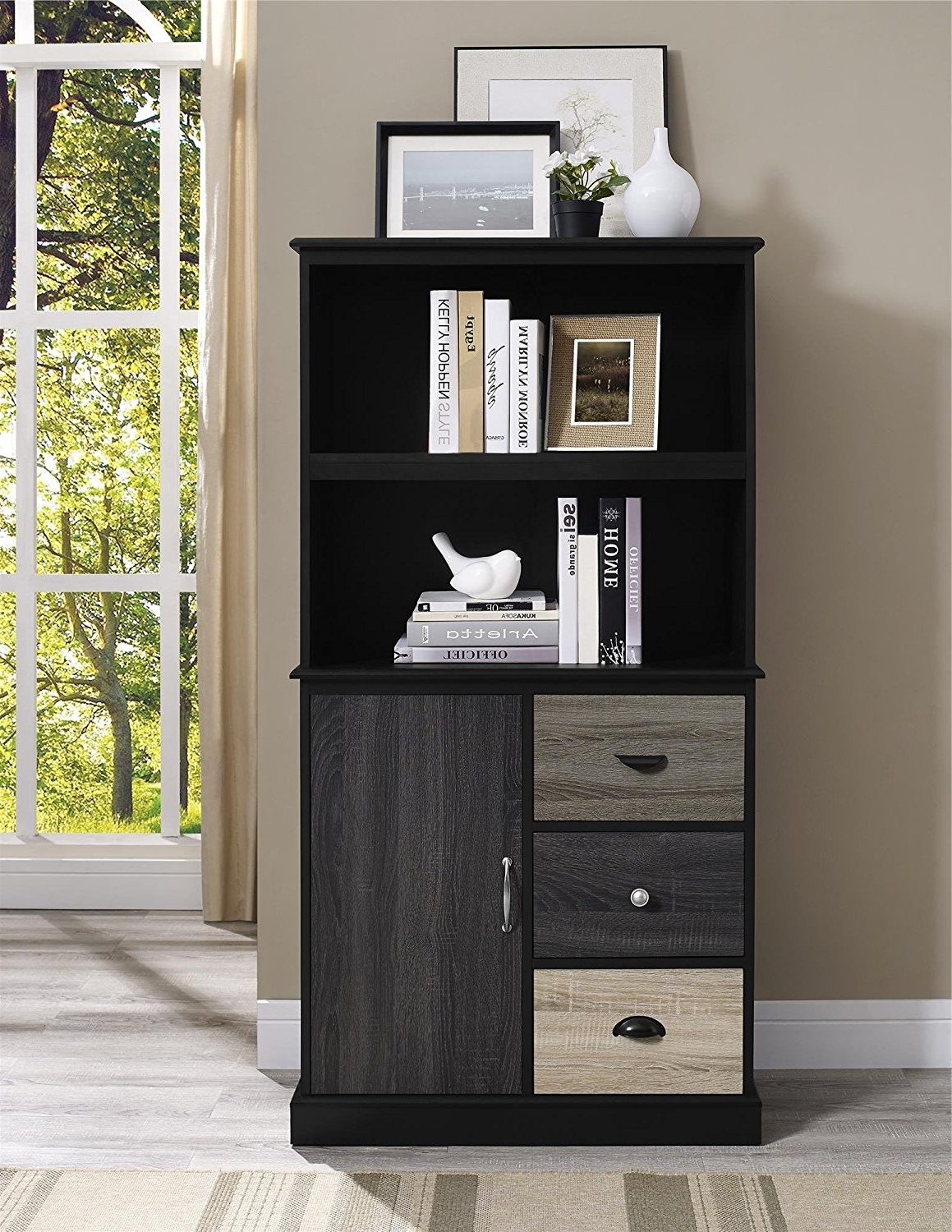 Storage Bookcases In Well Known Amazon: Ameriwood Home Mercer Storage Bookcase With (View 1 of 15)