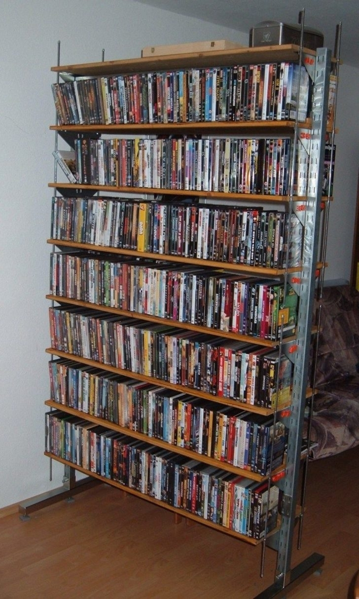 Storage Rack, Diy With Regard To 2018 Dvd Bookcases (View 11 of 15)