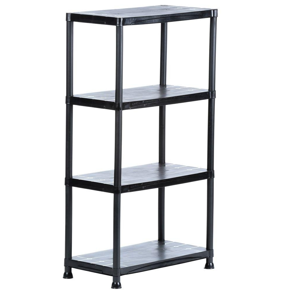 Storage Shelving Units With Newest Hdx 4 Shelf 15 In. D X 28 In. W X 52 In (View 10 of 15)