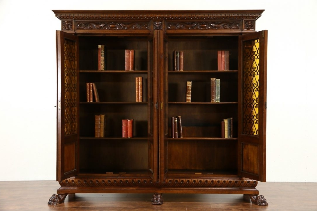 Striking Antique Bookcase Photos Ideas Sold Oak Glass Doors Inside 2017 Craigslist Bookcases (View 13 of 15)