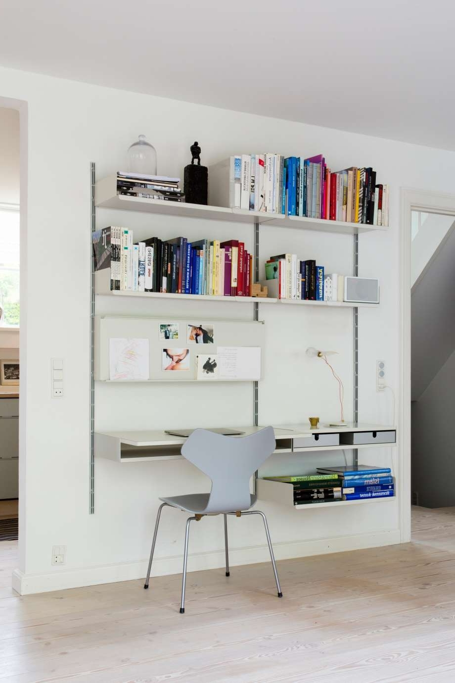 Study Desk With Bookshelves Within Fashionable Workspace & Desks (View 10 of 15)