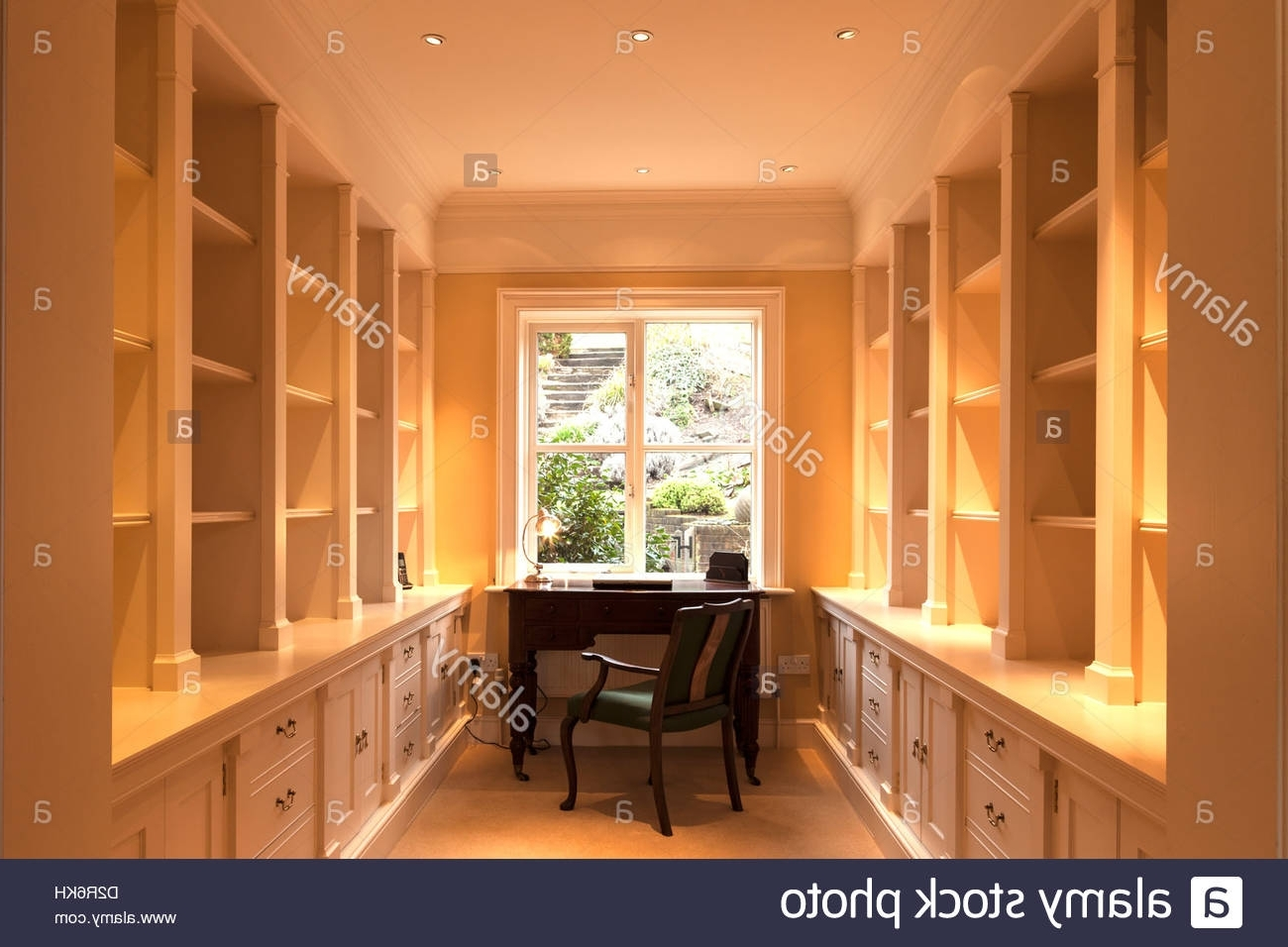 Study Lined With Cupboards And Shelving Stock Photo, Royalty Free Within Most Recent Study Cupboards (View 12 of 15)