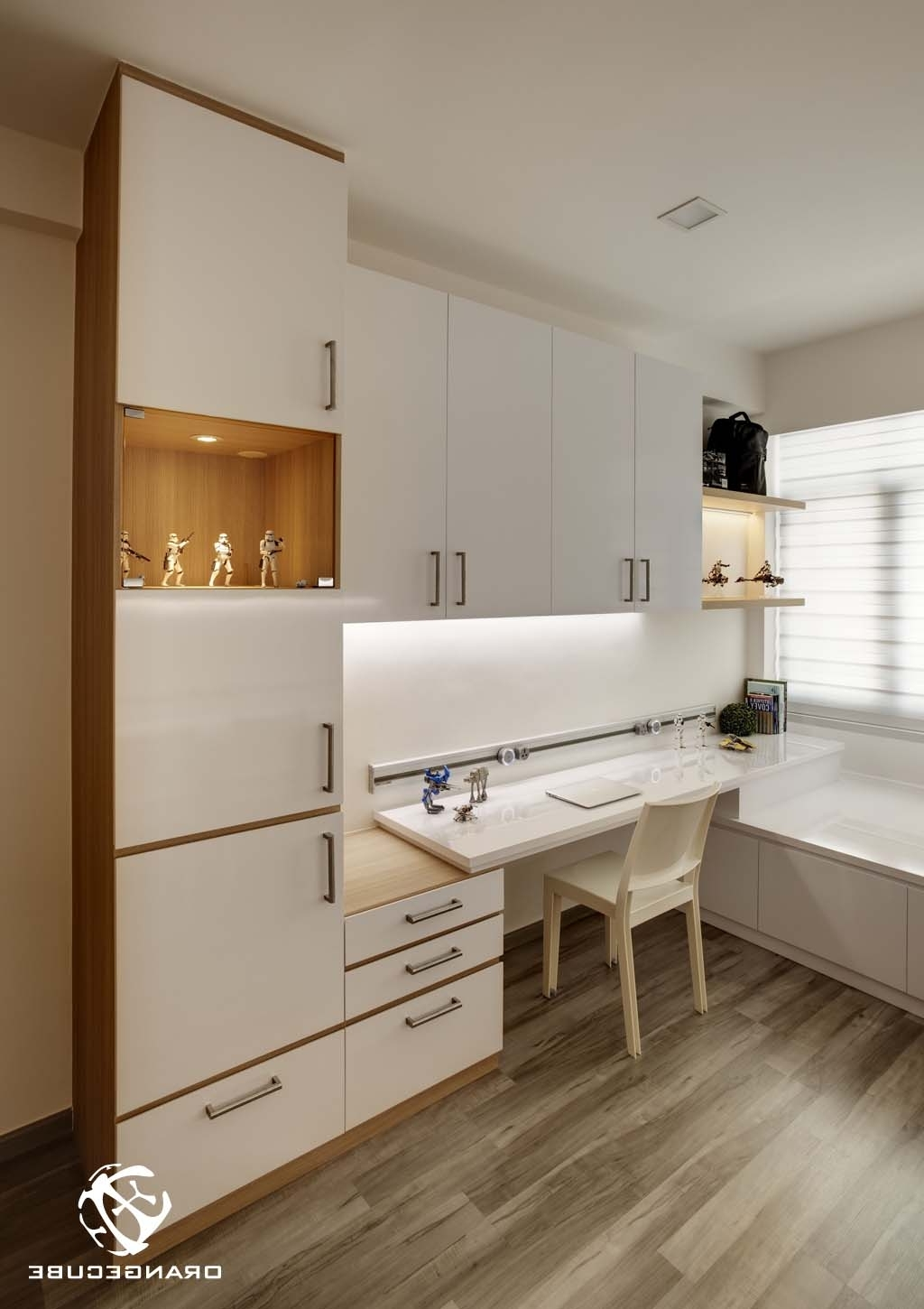 Study Room Cupboard Design In Most Recent Condo@chestervale – Study (View 8 of 15)