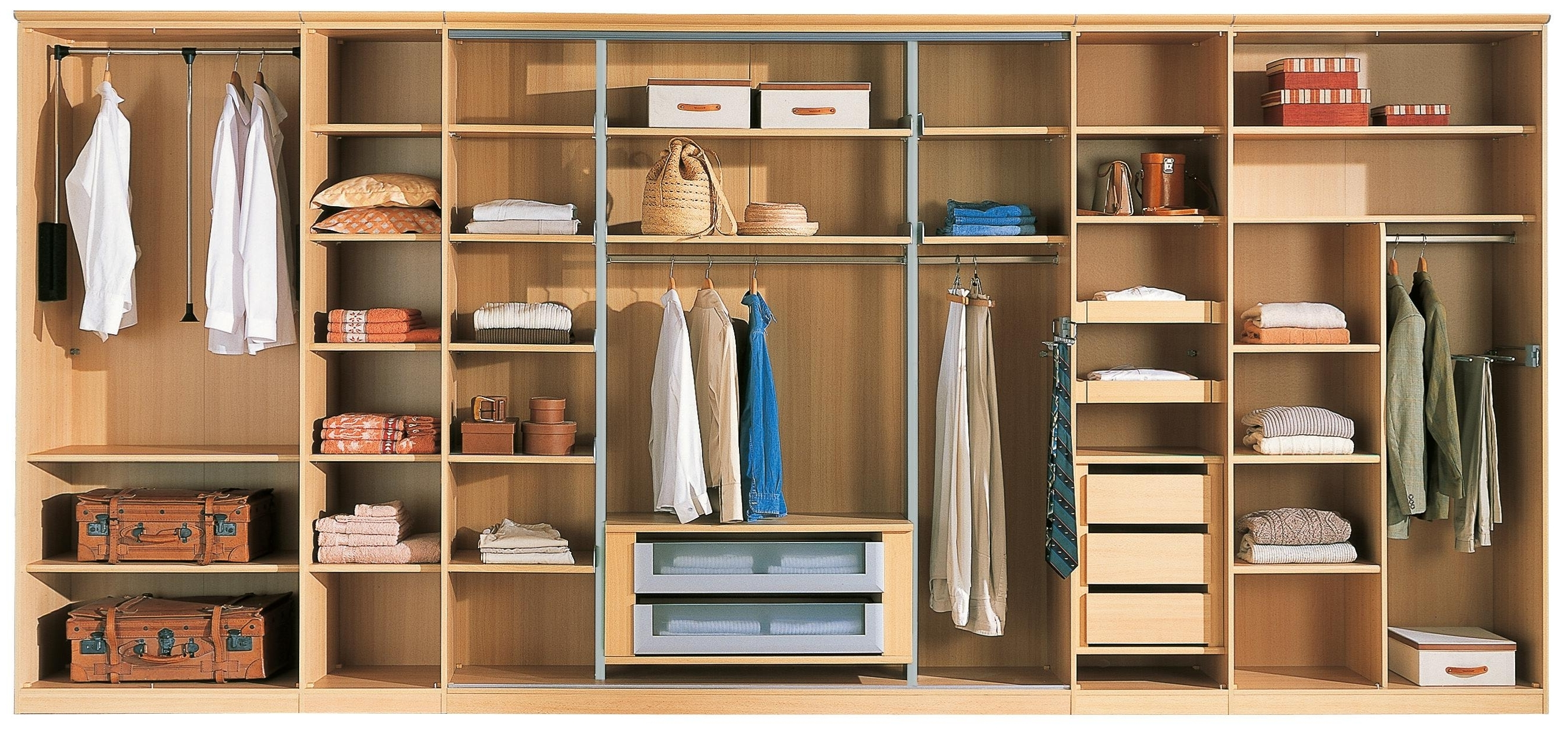 Stylish Design Double Wardrobe With Drawers And Shelves Oliver For Widely Used Wardrobes With Shelves And Drawers (View 6 of 15)