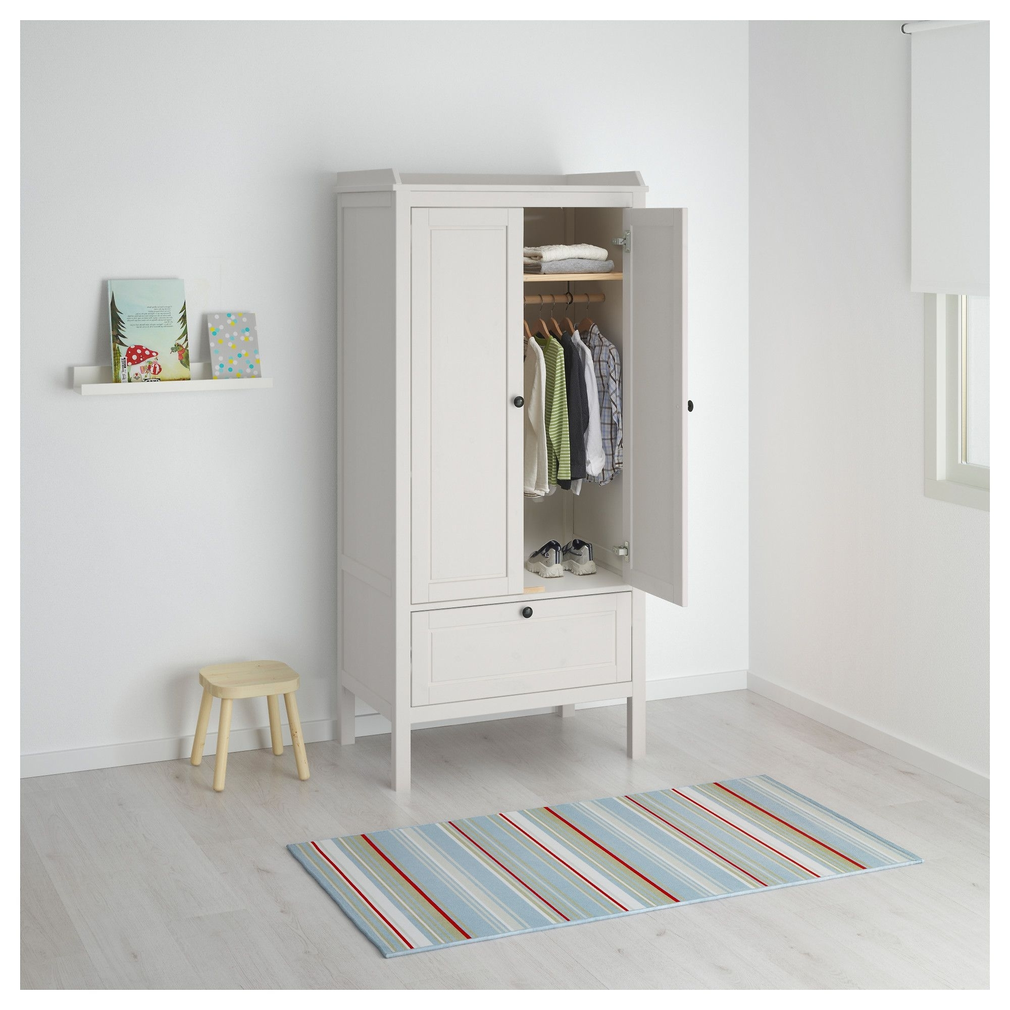 Sundvik Wardrobe White 80x50x171 Cm (View 11 of 15)