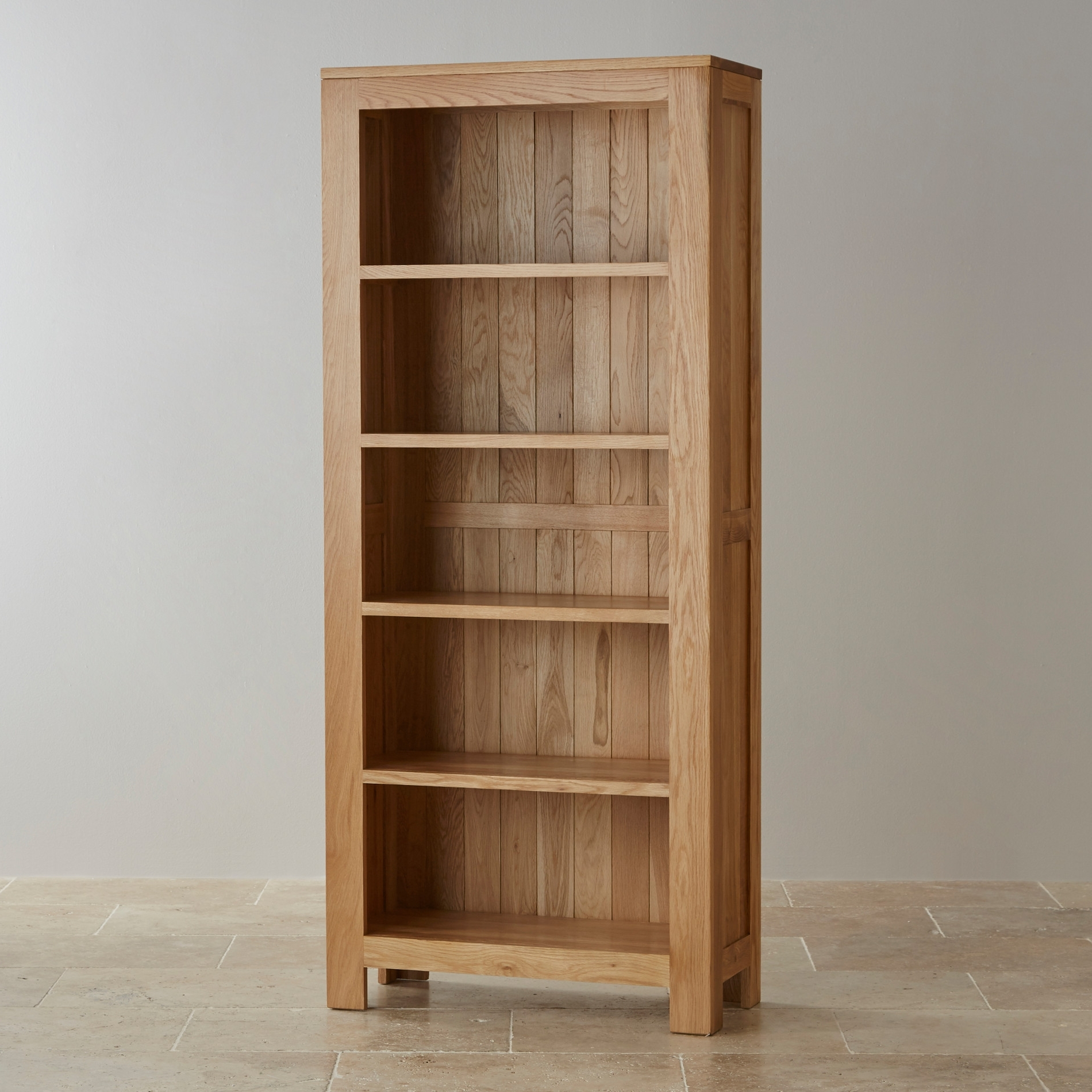 Tall Bookcases For Most Up To Date Oakdale Solid Hardwood Tall Bookcase (View 9 of 15)