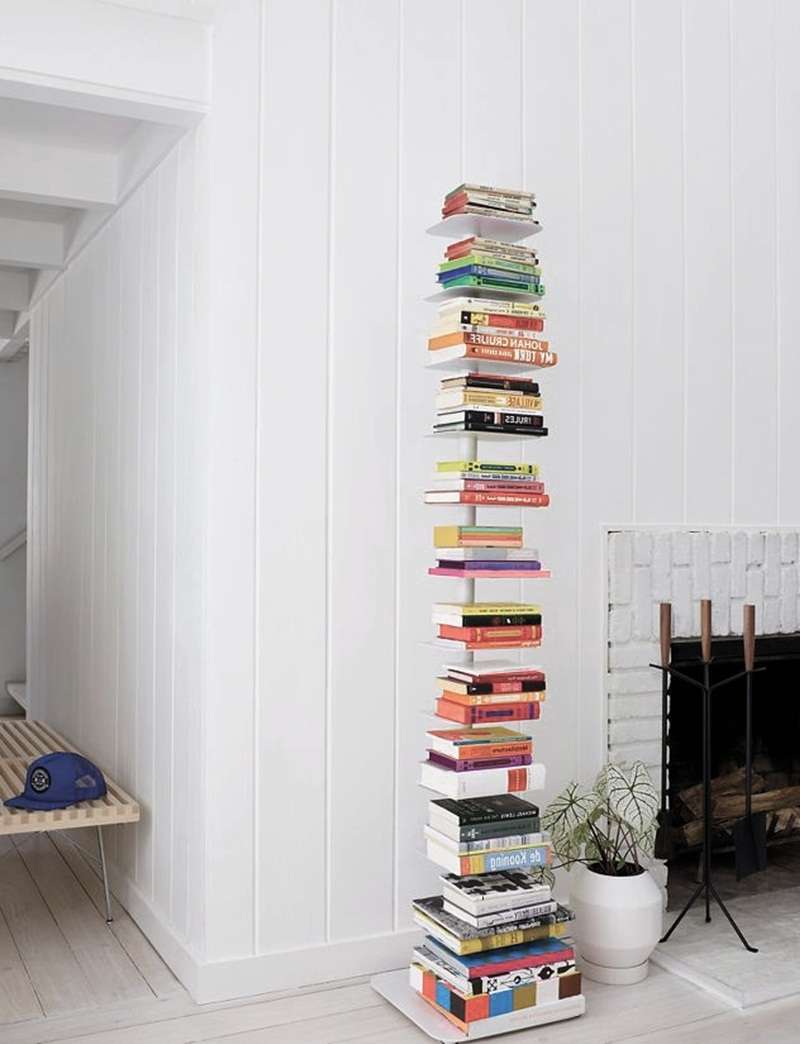 Tall Sapien Bookcases Throughout Famous Anthracite Sapien Bookshelf White – Matt And Jentry Home Design (View 7 of 15)