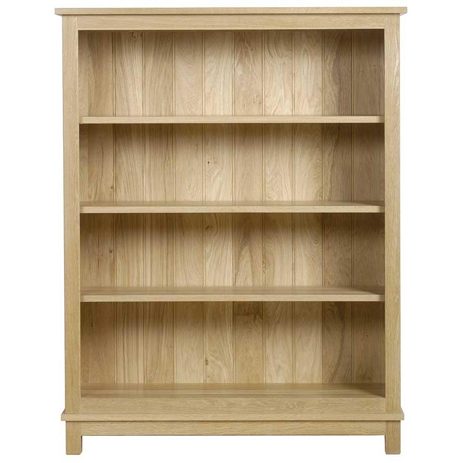 Tall Shallow Bookcase Open Shelf Oak Bookshelf Interior With Doors Inside Newest Oak Bookshelves (View 3 of 15)