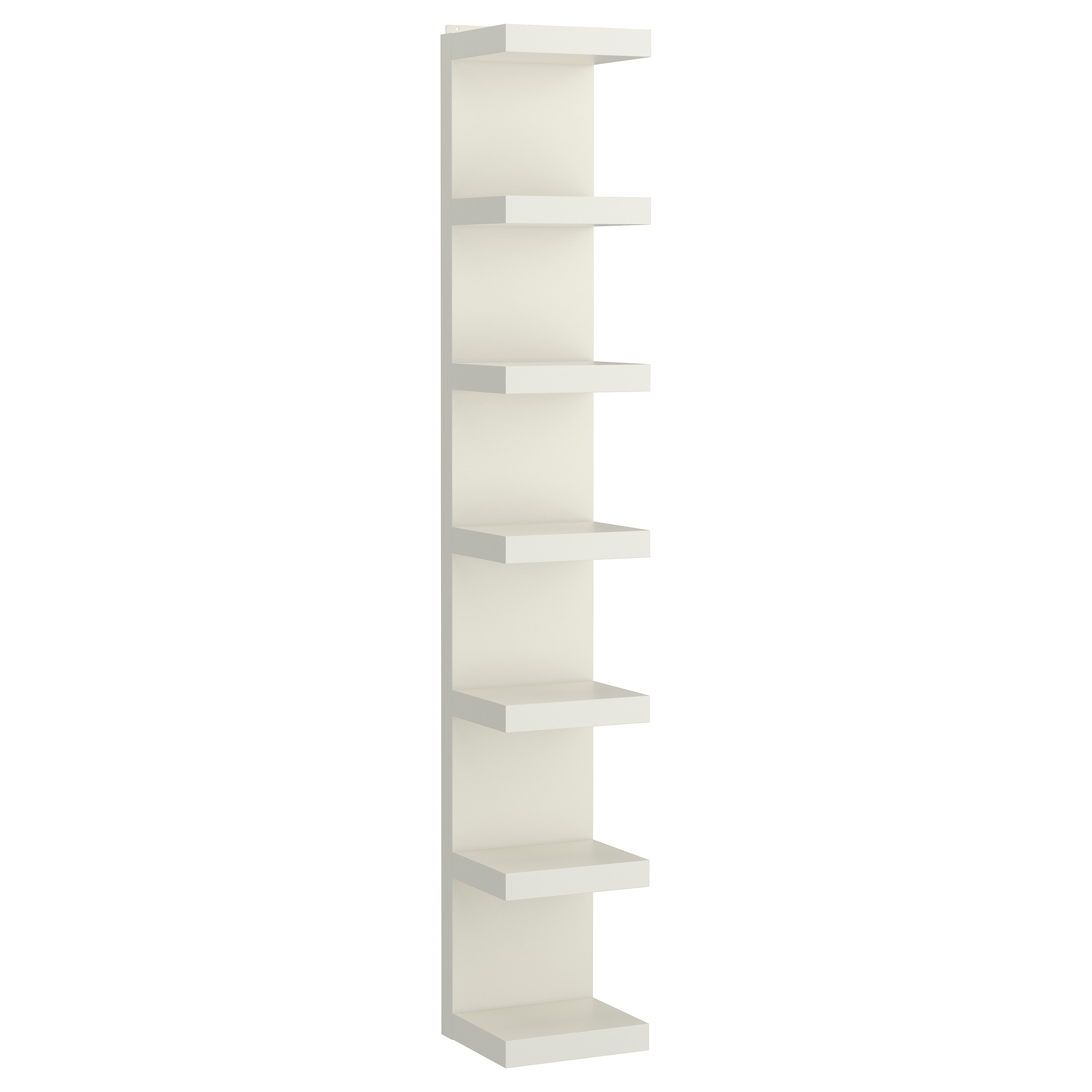 Tall White Bookcases With Latest Lack Wall Shelf Unit – White – Ikea (View 9 of 15)