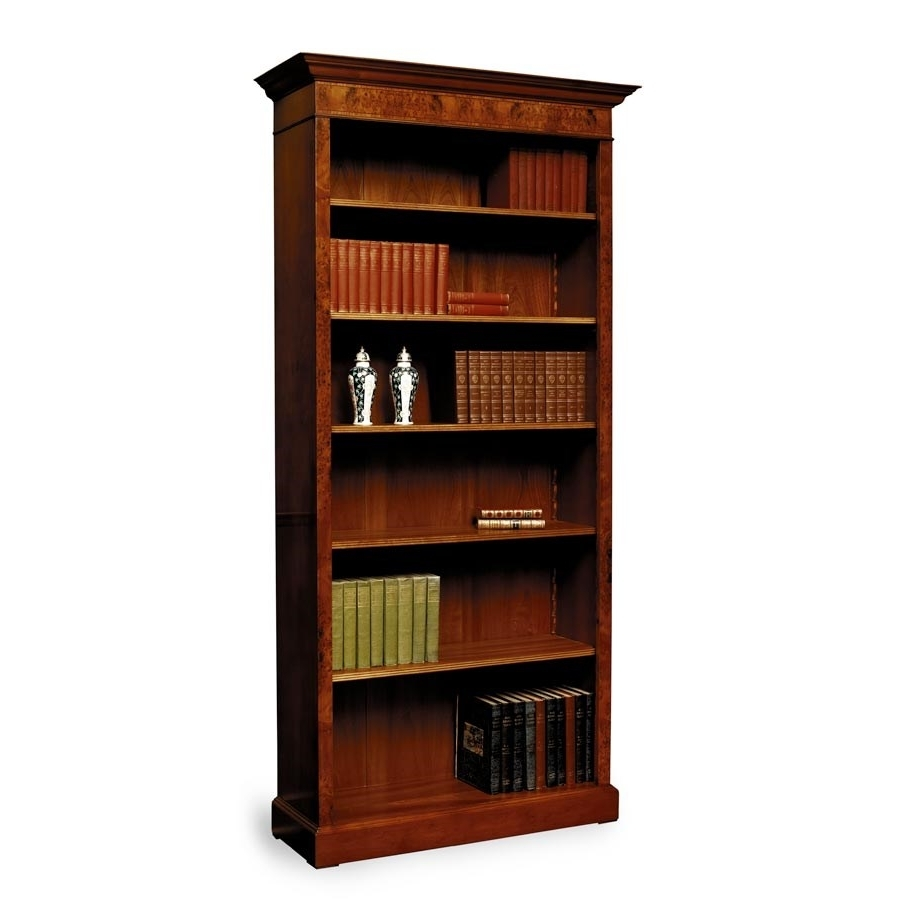 Tall Yew Bookcase With Inlay (View 10 of 15)