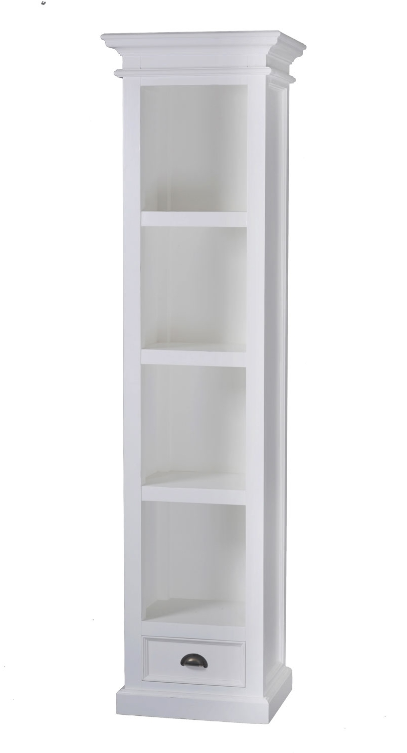 Tallhite Bookcase Extraith Doors On Bottom Cabinet Doorstall 48 With Regard To Latest Narrow White Bookcases (View 2 of 15)