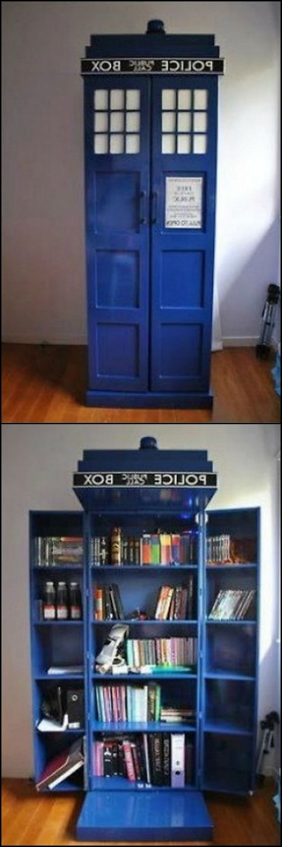 Tardis Bookcases Pertaining To Most Recently Released Tardis Bookshelf With Working Light! The Best Christmas Present (View 5 of 15)