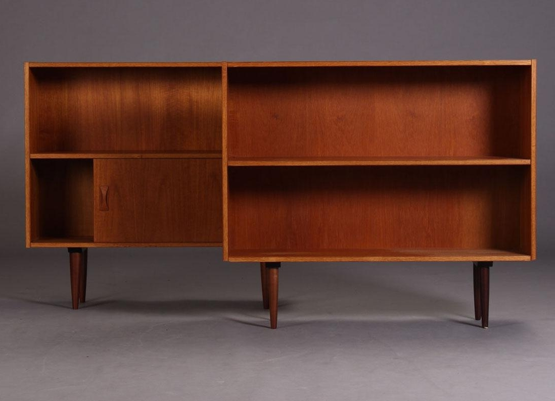 Teak Bookcases In Famous Danish Teak Bookcases From Clausen & Søn Møbelfabrik, 1960s, Set (View 4 of 15)