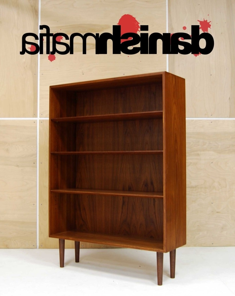 Teak Bookcases With Famous Mid Century Danish Modern Mogensen Teak Office Bookcase Shelf (View 13 of 15)