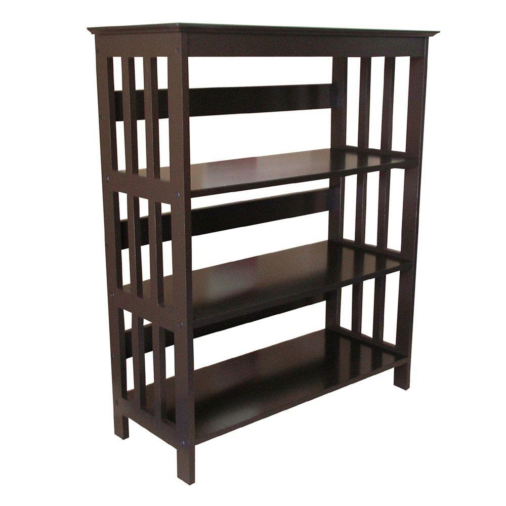 Three Shelf Bookcases With Regard To Popular Cherry Open Bookcase R5417 Ch – The Home Depot (View 14 of 15)