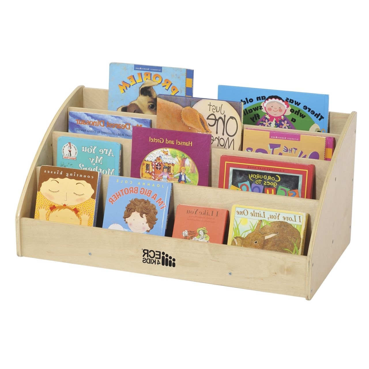 Toddler Bookcases For Newest Ecr4kids Toddler Birch Book Display (View 3 of 15)