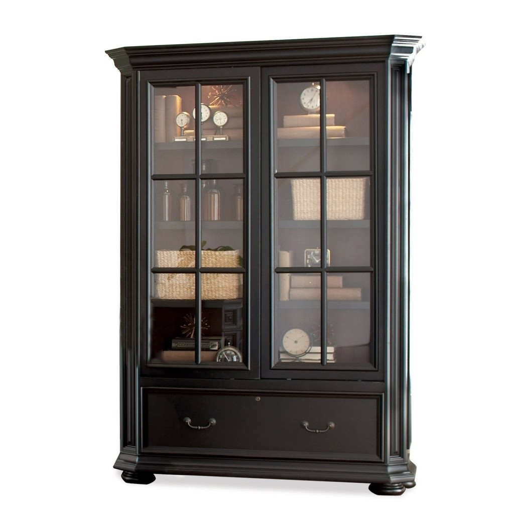 Top 12 Bookcases With Glass Doors Of 2018 That You'll Love For Best And Newest Black Bookcases With Glass Doors (View 7 of 15)