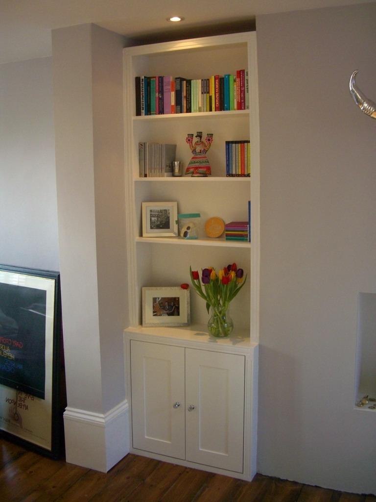 Trad Alcove Bookcase / Cupboard Option (View 13 of 15)