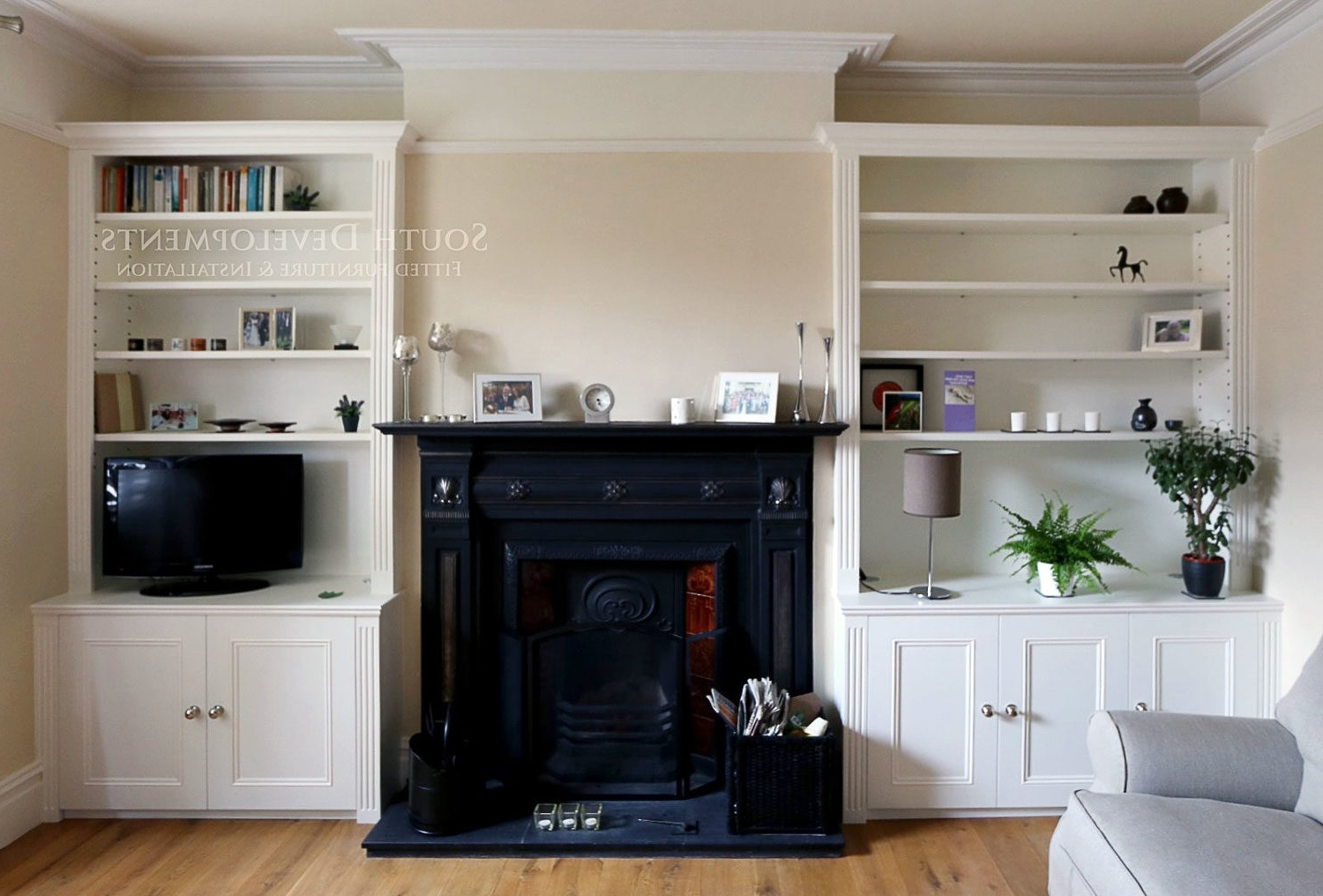 Traditional Alcoves Surrey Fitted Lounge Furniture Bespoke Living Within Latest Living Room Fitted Cabinets (View 12 of 15)