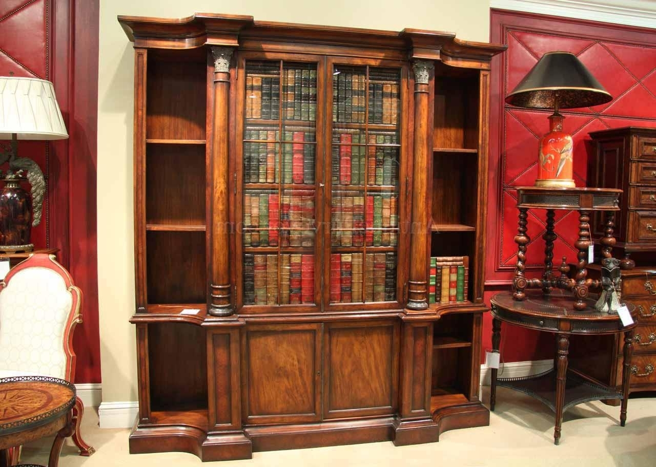 Traditional Mahogany Bookcase For The Designer Home Office Pertaining To Fashionable Mahogany Bookcases (View 10 of 15)