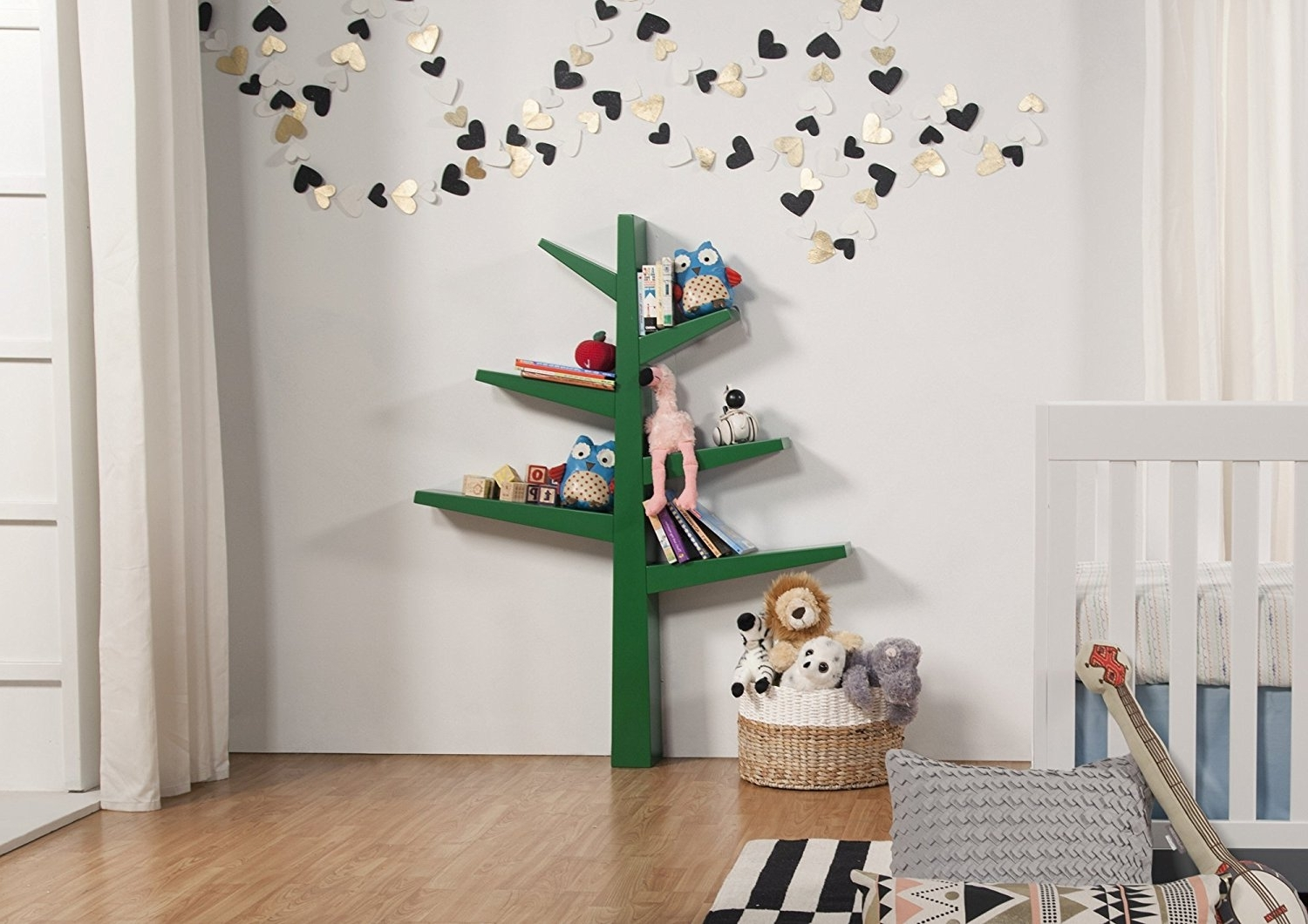 Tree Bookcases Regarding Popular Amazon: Babyletto Spruce Tree Bookcase, Green: Baby (View 8 of 15)