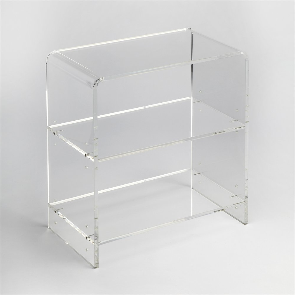 Trendy Acrylic Bookcases Pertaining To Butler Specialty 3611335 Butler Loft Crystal Clear Bookcase (View 8 of 15)