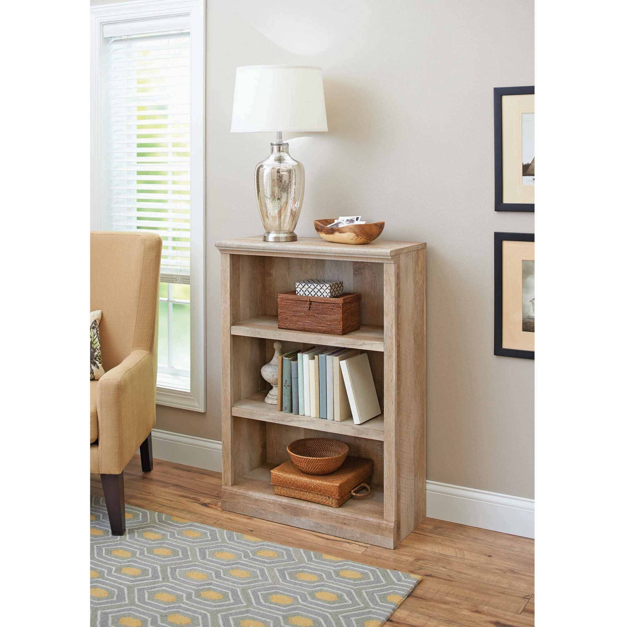 Trendy Better Homes And Gardens Crossmill Collection 3 Shelf Bookcase Within 3 Shelf Bookcases Walmart (View 14 of 15)