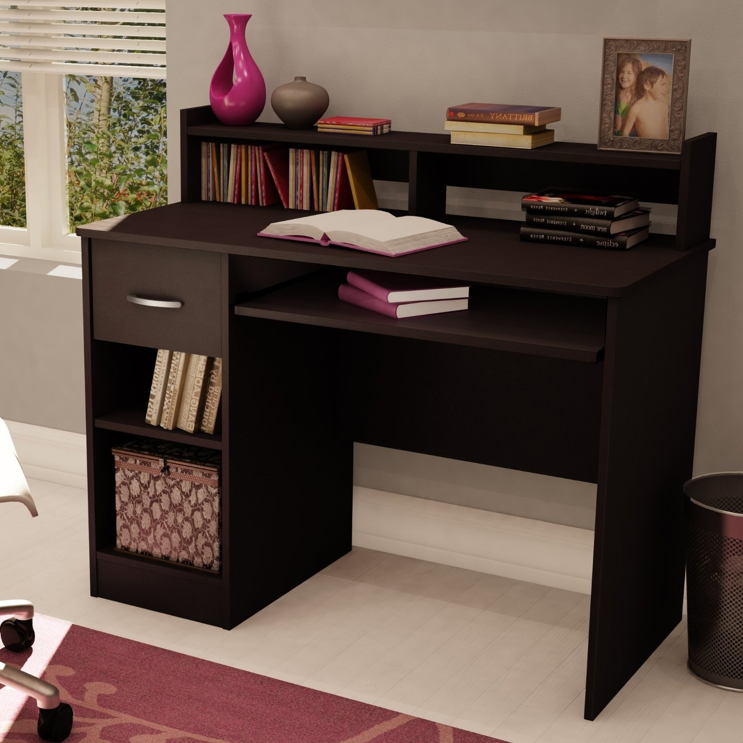 Trendy Bookshelves With Study Table Design Single Room Layout Desk Trends In Study Desk With Bookshelves (View 11 of 15)