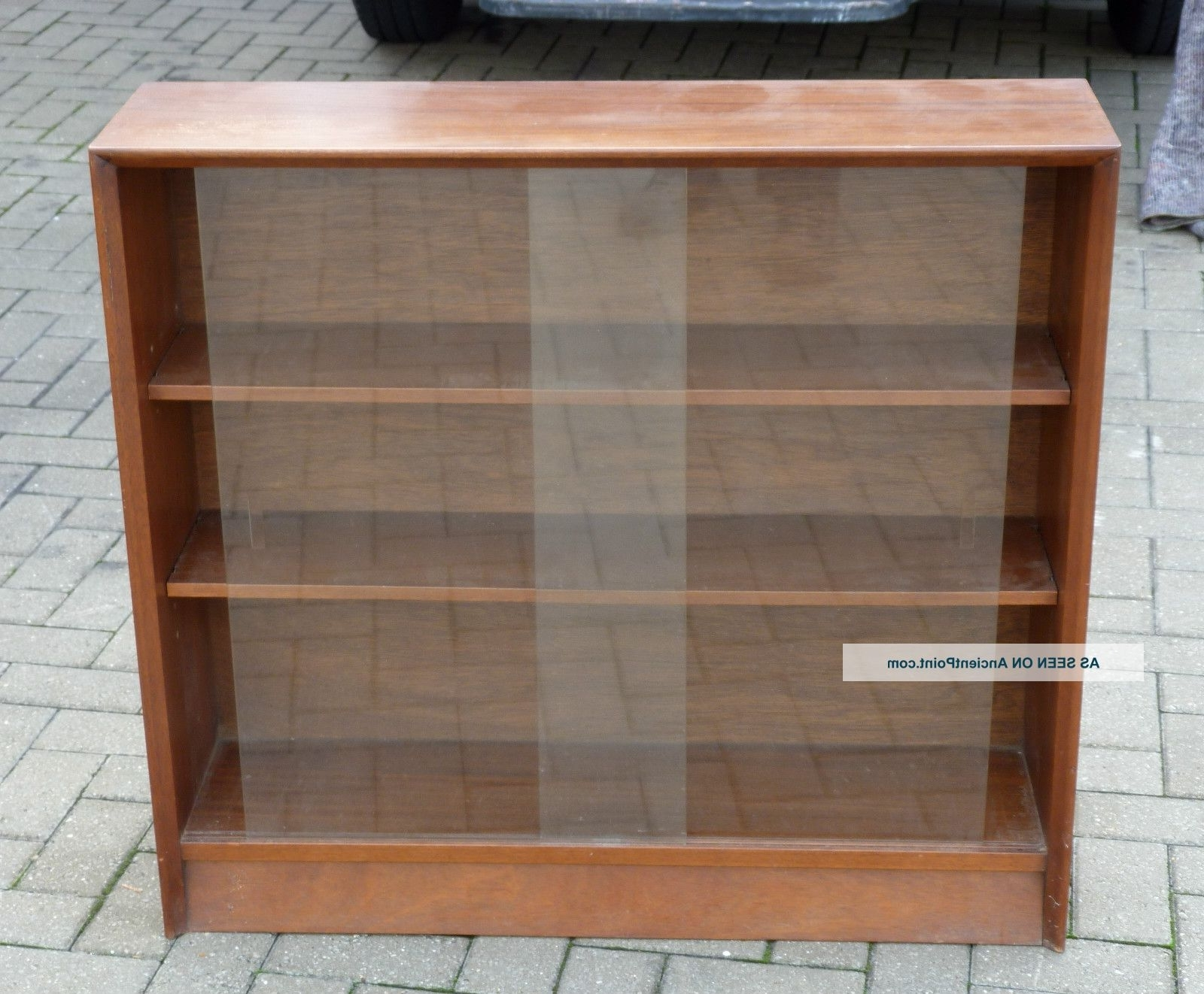 Trendy Glass Front Bookcases Intended For Glass Cabinet : Awesome Pair Retro Vintage Sliding Glass Door (View 13 of 15)