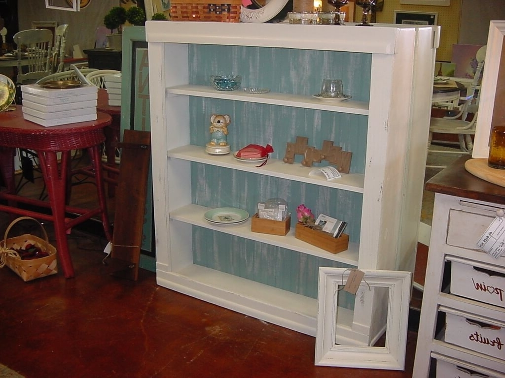 Trendy Hand Painted Bookcases Regarding Furniture: Large Distressed Bookcase And Old Battista Distressed (View 15 of 15)