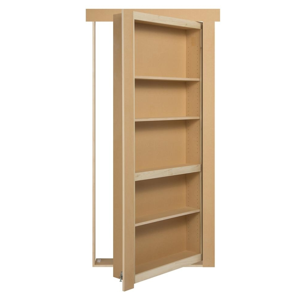 Trendy Hidden Door Bookcases With The Murphy Door 36 In. X 80 In. Flush Mount Unassembled Paint (Gallery 9 of 15)