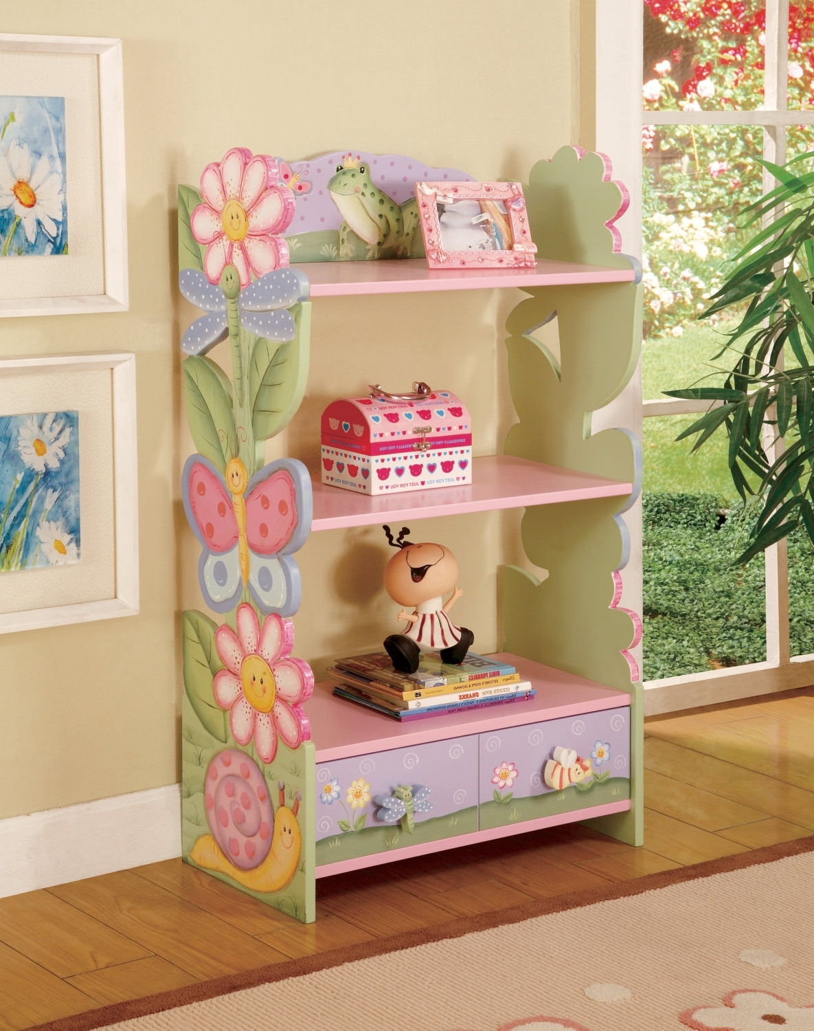 Trendy Kids Furniture Hand Painted Wooden Bookshelfteamsondesign In Hand Painted Bookcases (View 12 of 15)