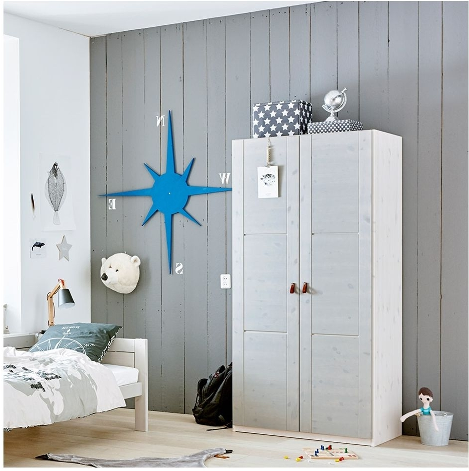Trendy Kids Room : Children's Modern Double Wardrobe In White Color With Double Rail Childrens Wardrobes (View 7 of 15)